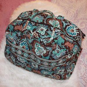 Vera Bradley Blue and Brown Duffel Bag